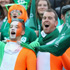 Irish supporters get excited for the USA v Ireland Rugby World Cup match. Photo / Getty Images