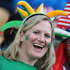 Rugby fans soak up the atmopshere at the Ireland v USA Rugby World Cup game in New Plymouth. Photo / Getty Images