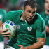 Tommy Bowe of Ireland runs through to score a try. Photo / Getty Images