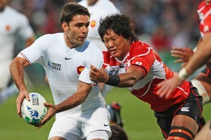 Japan nearly caused the upset of upsets. None of us had the remotest inkling that John Kirwan's side could be that good. Photo / Getty Images