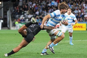 The Pumas' loose trio, including Juan Martin Fernandez Lobbe, may struggle against the All Blacks. Photo / Getty Images