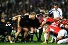 The All Black scrums have been ordinary. Photo / Getty Images