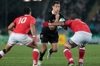 Dan Carter in action against Tonga. Photo / Brett Phibbs