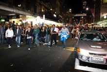 Huge crowds assembled for the opening of the 2011 Rugby World Cup. Photo / Sarah Ivey