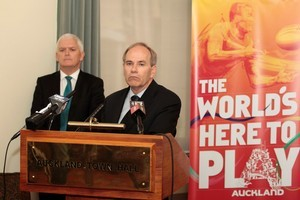 Auckland City Mayor Len Brown talks about issues plaguing the opening night of the World Cup. Photo / Richard Robinson