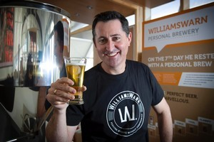 Ian Williams says his nano brewery machine has taken 'all the errors' out of home-brewing and is seven times faster. Photo / Natalie Slade