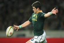 Having Morne Steyn in the team forces other sides to kick more says Springbok coach Peter de Villiers. Photo / Getty Images 