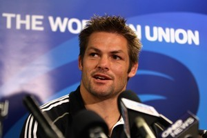 Richie McCaw says he wants to give his 100th test for the All Blacks tomorrow his all so he can 'look back with a bit of pride'. Photo / Getty Images
