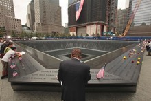 A ceremony at the site of the World Trade Center commemorates 10th anniversary of the terrorist attacks. Photo / AP
