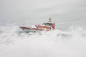 The Coastguard helped in last night's rescue of two men from the Waitemata Harbour after their dinghy sank. Photo / Richard Robinson.