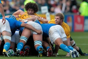 Italy did not deviate from their usual pattern on Sunday, but the Irish at Eden Park will bring new challenges for the Wallabies. Photo / AP