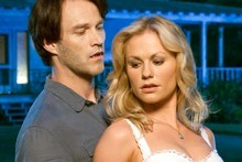Anna Paquin, with 'True Blood' co-star and husband Stephen Moyer. Photo / Supplied