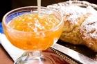 Grapefruit marmalade with orange wholemeal scones. Photo / Babiche Martens