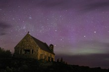 At night the Church of the Good Shepherd is surrounded by millions of stars. Photo / MtCookNZ.com