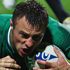 Tommy Bowe of Ireland goes over to score a try. Photo / Getty Images