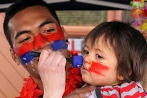 Samoan supporters in Rotorua. Photo / SNPA