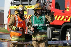 Fire crew say one man is yet to be accounted for. File photo / NZ Herald