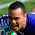 Scrumhalf Kahn Fotuali'i of Samoa scores the opening try during the Pool D match between Samoa and Namibia. Photo / Getty Images