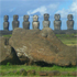 Moai on Easter Island. Photo / Supplied