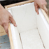 Fix the polystyrene to the inside of the box, using PVA or any other strong water-soluble glue. Photo / Sarah Ivey