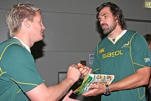 South Africa will be without lock Victor Matfield and second-five Jean de Villiers for their next encounter with Fiji. Photo / Getty Images