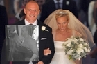 English captain Mike Tindall at his wedding to the Queen's granddaughter Zara Phillips, and (inset) at a night out in Queenstown this week. Photos / AP
