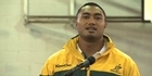 Watch: Wallabies player goes back to his roots