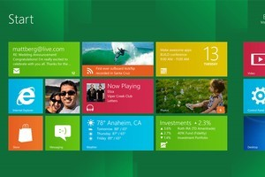 'Start screen' from the developer preview of Windows 8. Photo / Supplied