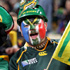 Supporters awaits the start of the South Africa versus Namibia Pool D match of the Rugby World Cup at North Harbour Stadium. Photo / SNPA