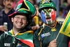North Harbour Stadium was almost completely packed with African rugby fans. Photo / SNPA