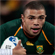 South Africa's winger Bryan Habana scores. Photo / Brett Phibbs