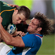 South Africa's 2nd-five Frans Steyn is tackled by Namibia's captain Jacques Burger. Photo / Brett Phibbs