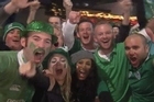 Excited fans showed support for their teams as they swarmed into Eden Park for Ireland's Rugby World Cup clash against the Wallabies.