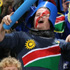 Fans get behind their teams at the South Africa versus Namibia Pool D match of the Rugby World Cup at North Harbour Stadium. Photo / Greg Bowker