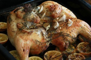 Lemon adds a zing to roast chicken. Photo / Janna Dixon