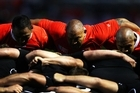 The Tongan camp post-Canada defeat was not a happy one. Photo / Getty Images