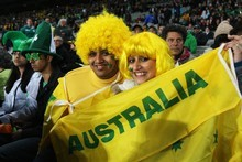 Wallabies fans soak up the atmosphere during the IRB 2011 Rugby World Cup Pool C match between Australia and Ireland at Eden Park. Photo / Getty