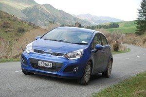 The Kia Rio looks stylish and handles well on New Zealand's back roads. Photo / Jacqui Madelin