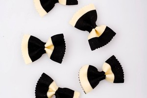 Showing national pride through your cooking is easy with black and white butterfly pasta. Photo / Babiche Martens