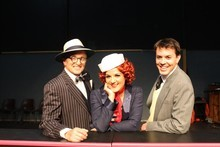 Ray Woolf, Jackie Clarke and Tyran Parke star in Anything Goes. Photo / Supplied