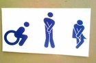 Toilet sign. Photo / Supplied