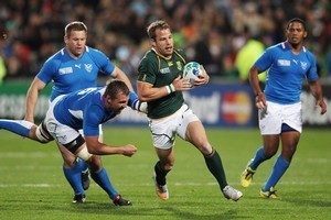 South Africa's Francois Hougaard in action. Photo / Greg Bowker