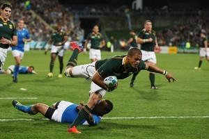 South Africa's Juan de Jongh in action. Photo / Greg Bowker