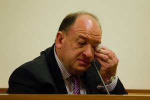 Peter Whittall broke down in tears while giving evidence yesterday. Photo / The Press