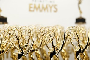 All that glitters...statuettes seen backstage ready to be presented at the 63rd Primetime Emmy Awards. Photo / AP