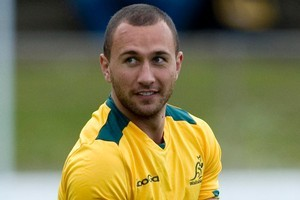Wallaby Quade Cooper. Photo / Dean Purcell