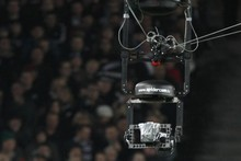 The overhead television camera - the spidercam. Photo / Paul Estcourt