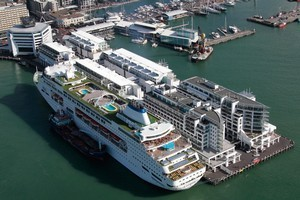 The document puts emphasis on a cruise-ship terminal on Queens Wharf. Photo / Brett Phibbs