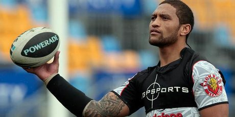 Warriors winger Manu Vatuvei. Photo / Brett Phibbs