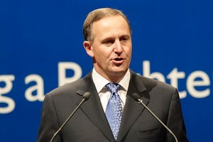 Prime Minister John Key says he is unconvinced of the merits of the rail loop. Photo / Mark Mitchell